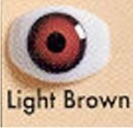 Dolly Eyes Lt Brown 10mm