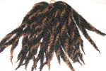 "Synthetic Dreads - 10"" long Black & Dark Blonde"