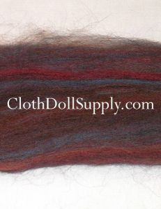 Wool Roving Dyed Mahogany