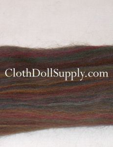 Wool Roving Dyed Riverstone