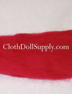 Wool Roving Red