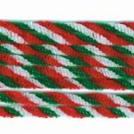 Chenille Twist Red/White/Green