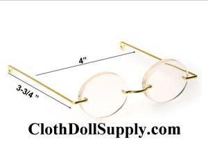 Doll Glasses 4 Inch