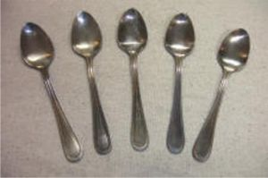 Tarnished Silver Look Ornamental Spoons