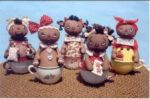 GLHH 294 - Darling Gingerbread Tea Cup Dolls Pattern