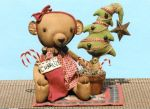 GLHH 333 Charlize Brown Bear & Shabby Tree Pattern