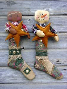 GS 216 Stocking Babies 2 snowman & Gingerbread