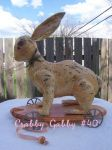 HG 40 Antique Rabbit Pull Toy
