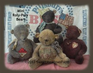 MM 16 - Mini Roly Poly 6 Inch Bears Pattern