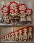 MM 231B Ten Little Raggedy Dolls Pattern