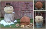 MM 236 Giant Pumpkin & Snowman Head Pattern