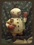 MM 239 Chubby Round Snowman Pattern
