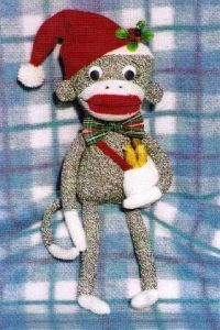SM HH 187 Christmas Sock Monkey Pattern