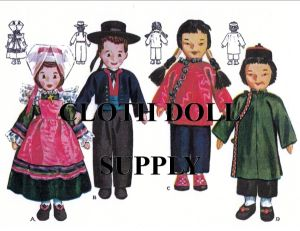 VP 1203 Vintage French & Chinese Doll Pattern