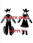 VP 1951 Cowboy & Cowgirl Pattern