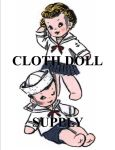 VP 2659 Sailor Twins Sock Doll Pattern