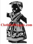 VP 542 Black Heritage Sock Doll Pattern