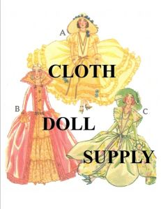 VP7 Three French Costumes pattern