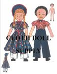VP 9049 Flip & Flop Two Stuffed Rag Dolls Pattern
