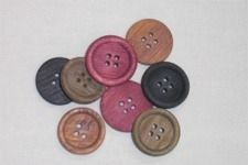 Primitive Wooden Buttons Mixed