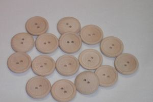 Primitive Wooden Buttons Natural